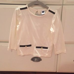 Janie and Jack Faux Leather Detail Shirt